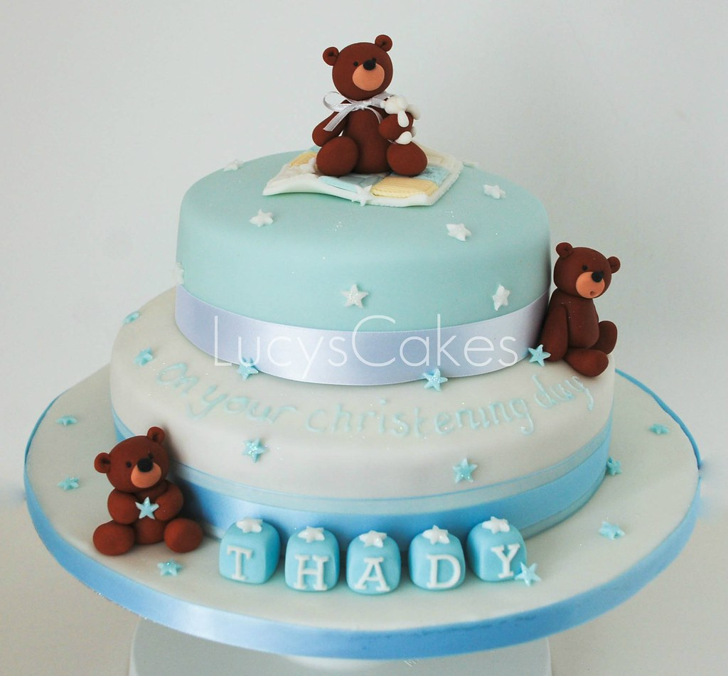 BABY BOYS CHRISTENING CAKE TEDDY BEARS visit me and LIKE ...