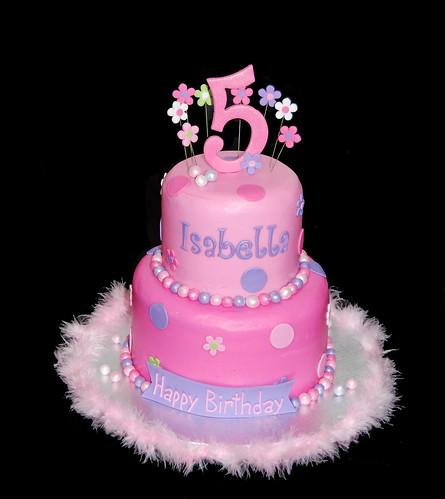 Girly Purple Cakes Girly 5th Birthday Cake