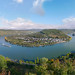A magnificent view on the largest bend of the Rhine river