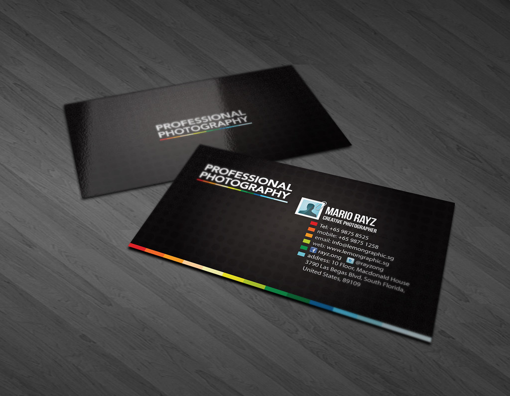 Professional photography business card professional for Best business cards for photographers