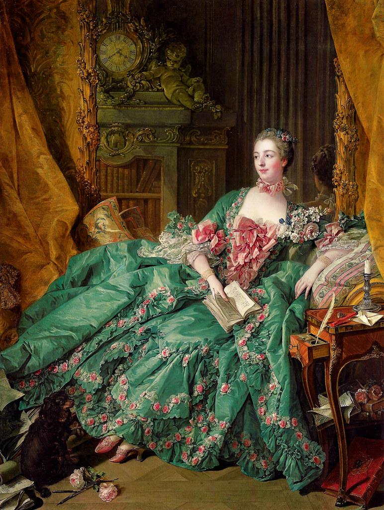 Billedresultat for green madame de pompadour portrait