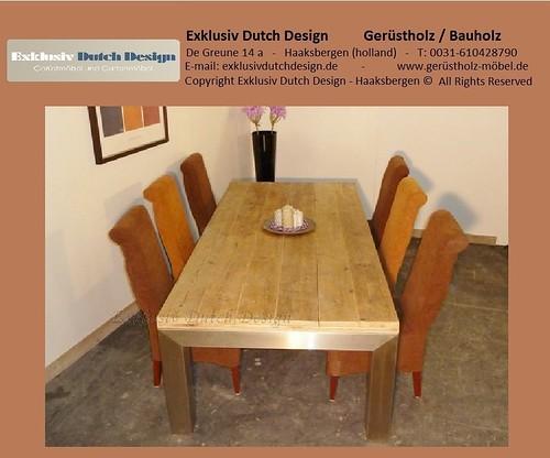 bauholz tisch esstisch2. Black Bedroom Furniture Sets. Home Design Ideas