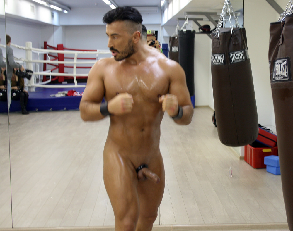 Male nude boxing