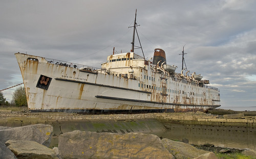 Beached Ship North Wales