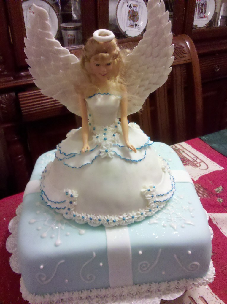 Snow Angel Holiday Cake Laura Flickr