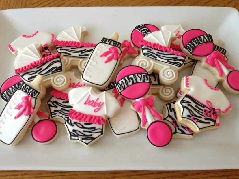 Zebra Print Baby Shower Cookies These Were Ordered By One Flickr