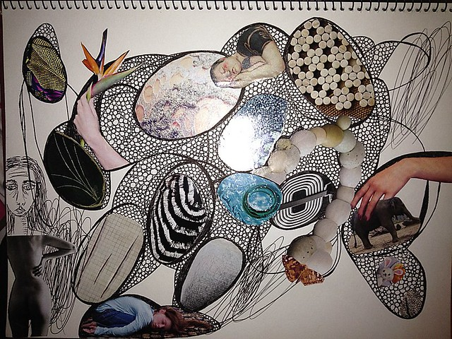 Scribble Drawing Art Therapy : Scribble drawing w collage flickr photo sharing