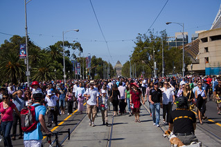 Busy St. Kilda Road on Moomba festival day | by Travellers Travel Photobook