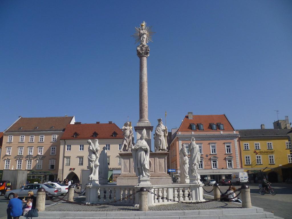 Wiener Neustadt, Lower Austria, Mariensäule (colonne de Ma