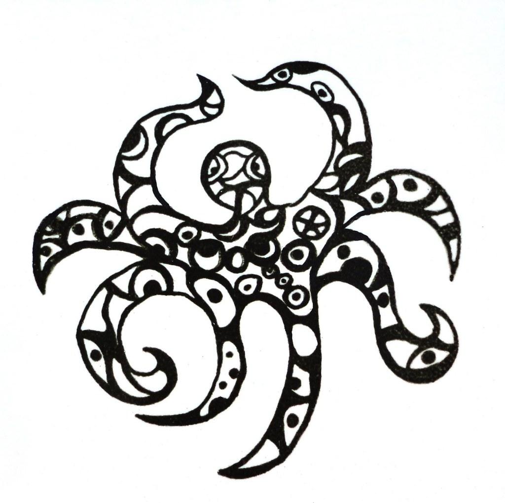 Octopus Ceramic Tile Detail On Ricardo Cat By Niki De Sain Flickr