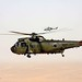 Royal Navy Sea King Mk4 Helicopter Escorted by Army Lynx Mk9A Over Afghanistan