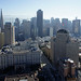 View of San Francisco skyline from above Nob Hill