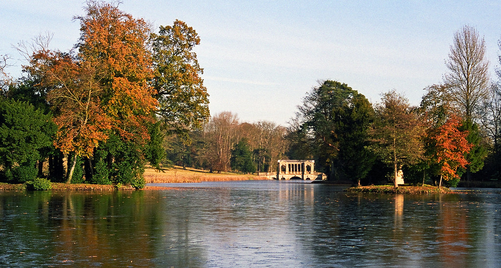 Landscape Gardens At Stowe Buckinghamshire Uk View Of