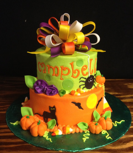 Campbells Halloween Birthday cake  by christies cakes