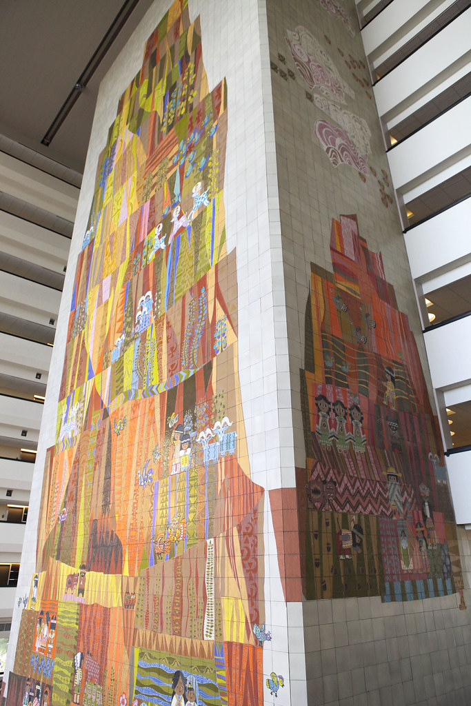 The grand canyon concourse mural celebrating the work of for Mural work using m seal