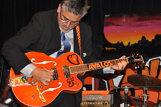 John Avalos playing guitar at election night party CSC_0171 | by Steve Rhodes