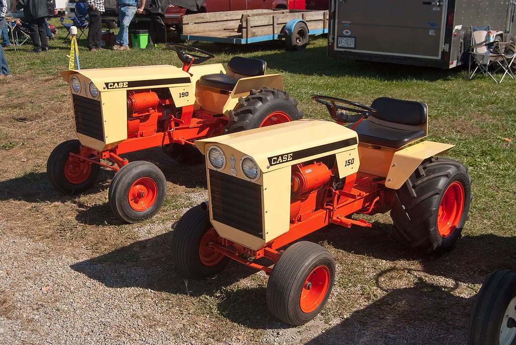 Case Lawn And Garden Tractors A 150 And A 180 At The