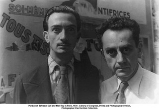 Portrait of Salvador Dalí and Man Ray in Paris, 1934 | by artimageslibrary