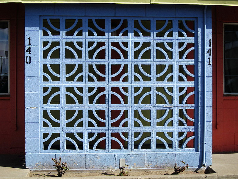 Decorative cinder block wall las cruces nm this is locat flickr - Decorative concrete wall forms ...