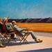 Grupo de gente al sol.1960