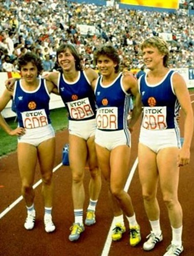 east german female swimmers 1976