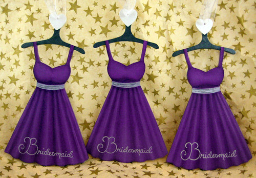 Purple silver dress ornament bridesmaids my original for Silver and purple wedding dresses