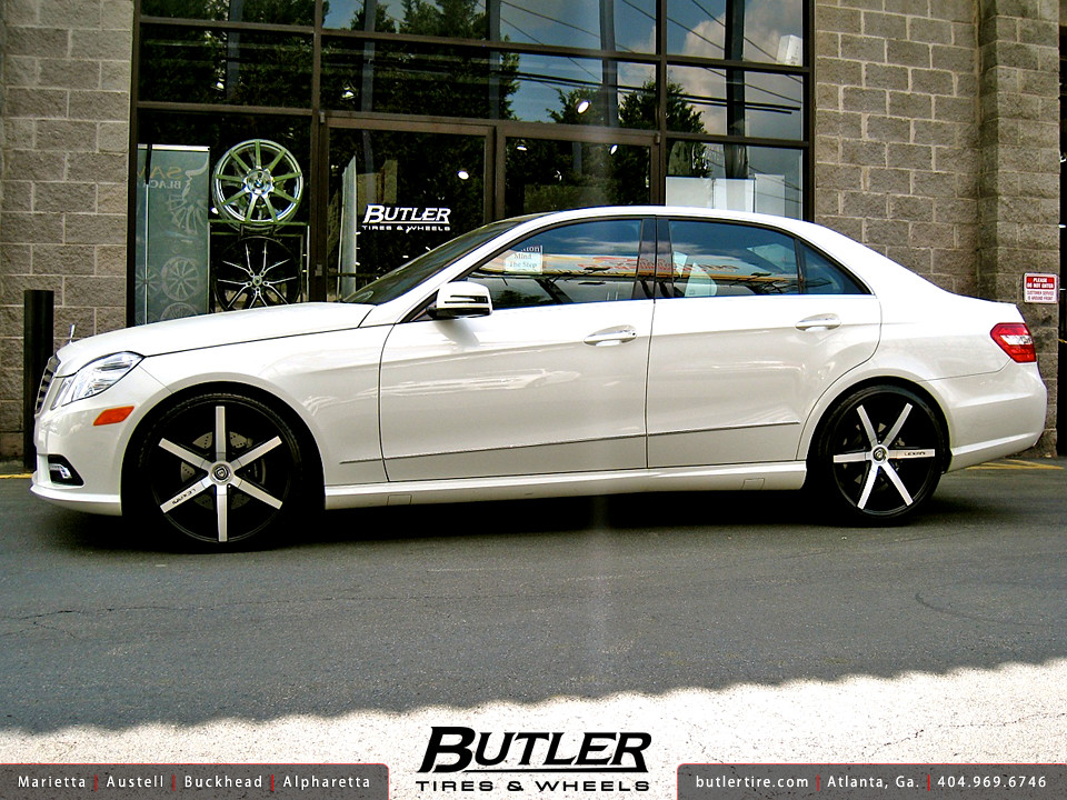 Mercedes E350 With 20in Lexani R Six Wheels Additional