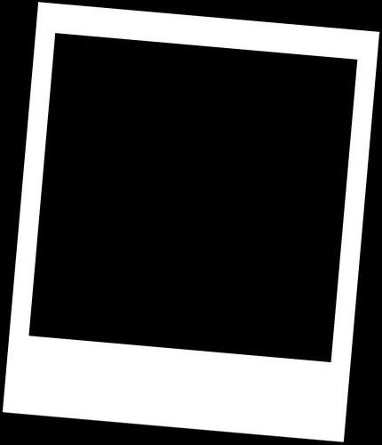 Picmonkey White Polaroid Frame On Black Template White