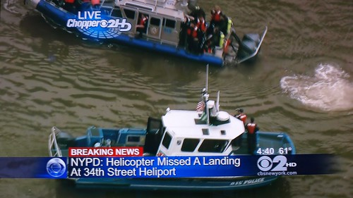 Helicopter Crashes in the East River, New York City | by jag9889