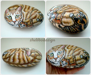 Tas Boyama Kedi Lady With Kittens Shebbo Design Flickr