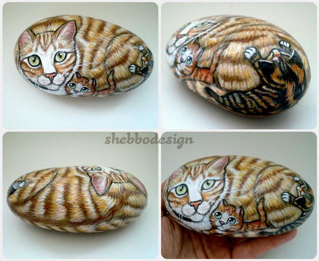 Tas Boyama Kedi Lady With Kittens Shebbo Design Flickr