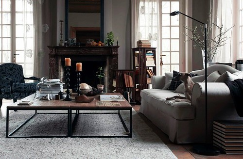 Hans blomquist off white vintage industrial rustic trad flickr for Living room antique and modern