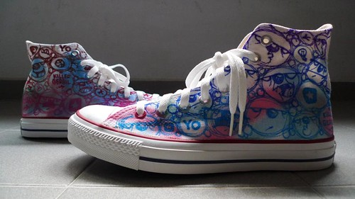The Killer Gerbil Converse Custom | by THΣ KILLΣR GΣRBIL