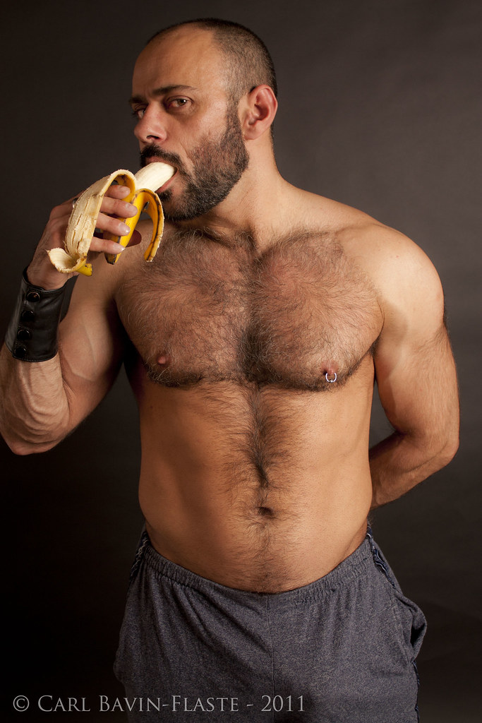 Sexy hairy muscle men