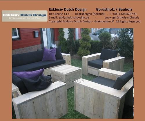 bauholz lounge set. Black Bedroom Furniture Sets. Home Design Ideas