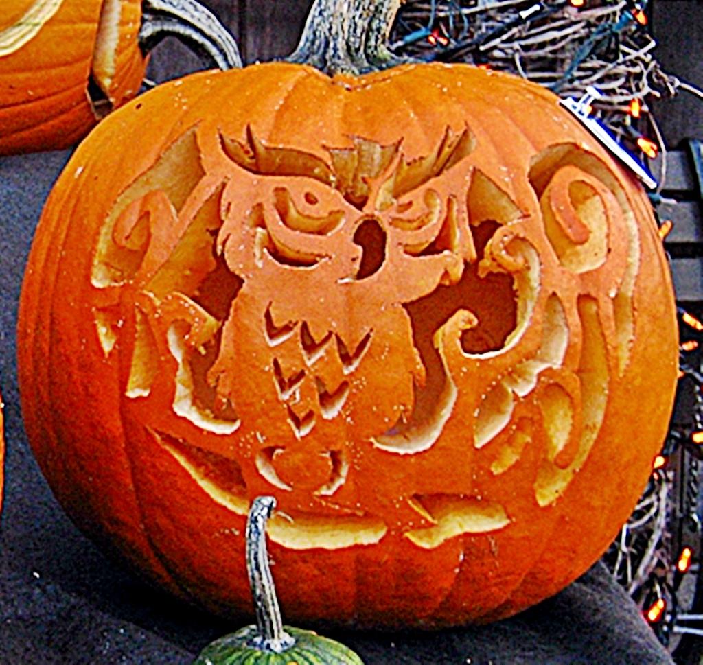 Pumpkin Contest Winner Hoot the Owl | The big winner was the… | Flickr
