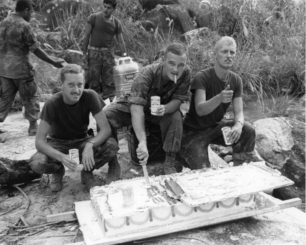 Marine Corps Birthday, Vietnam, 1969 | The caption reads ...