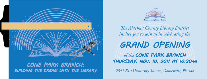 Library Branch Opening Invitation Front/Back | Invitation an… | Flickr