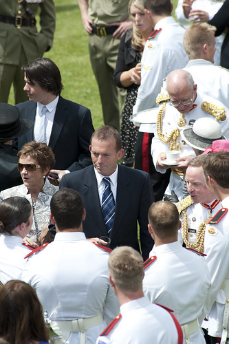 Mr Abbott speaking with military personnel during the Garden Reception at Duntroon. | by Tony Abbott