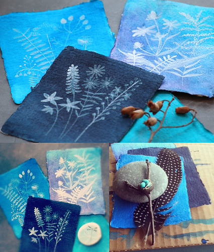 Faux Cyanotypes WIP | by Geninne