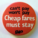'Fare's fair' campaign badge