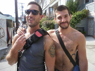 the two sexiest guys at the fair- RAMSES PRINGLE (right) will be on the BARE CHEST CALENDAR 2014 (SAFE PHOTO) | by addadada