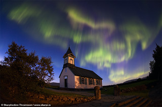Aurora Borealis at Þingvellir National Park, south-west Iceland | by skarpi - www.skarpi.is