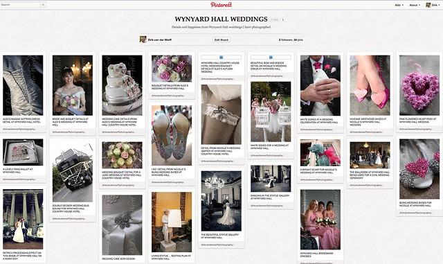 wynyard hall weddings inspiration board mood board