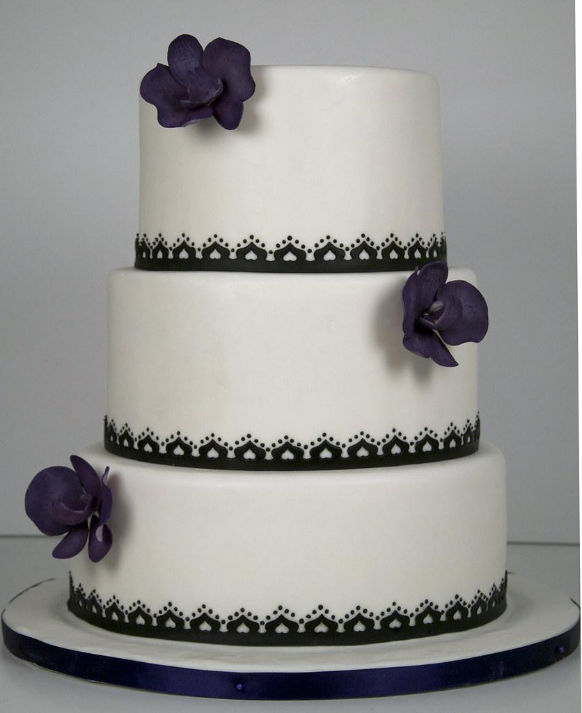 W9029 Simple Black White Wedding Cake Toronto W9029 A Flickr