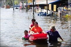 A family of flood victims