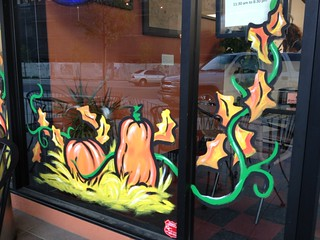 Halloween Windows in Old Town: Old Town Bakery and Deli | by Old Town Pittsburg CA