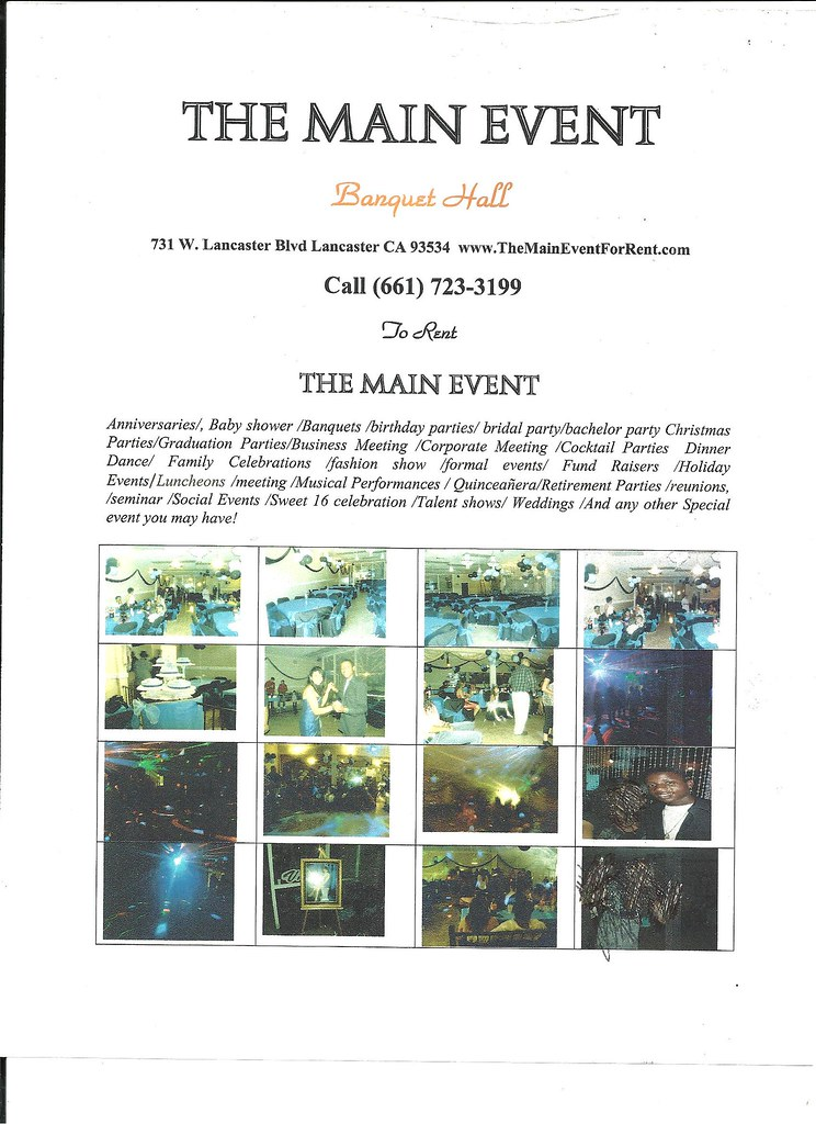 main event banquet hall flyer the main event just opened u flickr