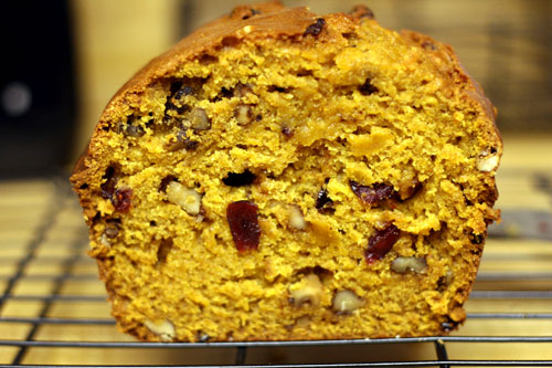 pumpkin bread with walnuts and cranberries | by browniesfordinner