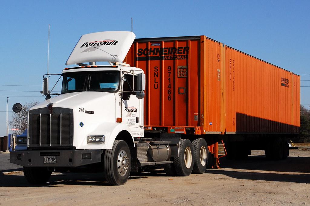 transport gilles perreault 2916 kenworth t800 truck and 53 flickr. Black Bedroom Furniture Sets. Home Design Ideas